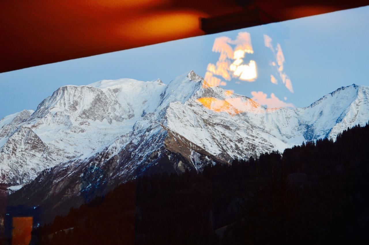 Le Mont Blanc au couchant depuis le salon