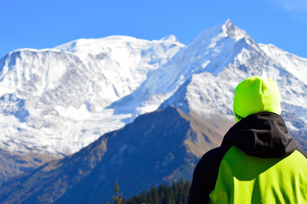 En tête à tête avec le Mont-Blanc.